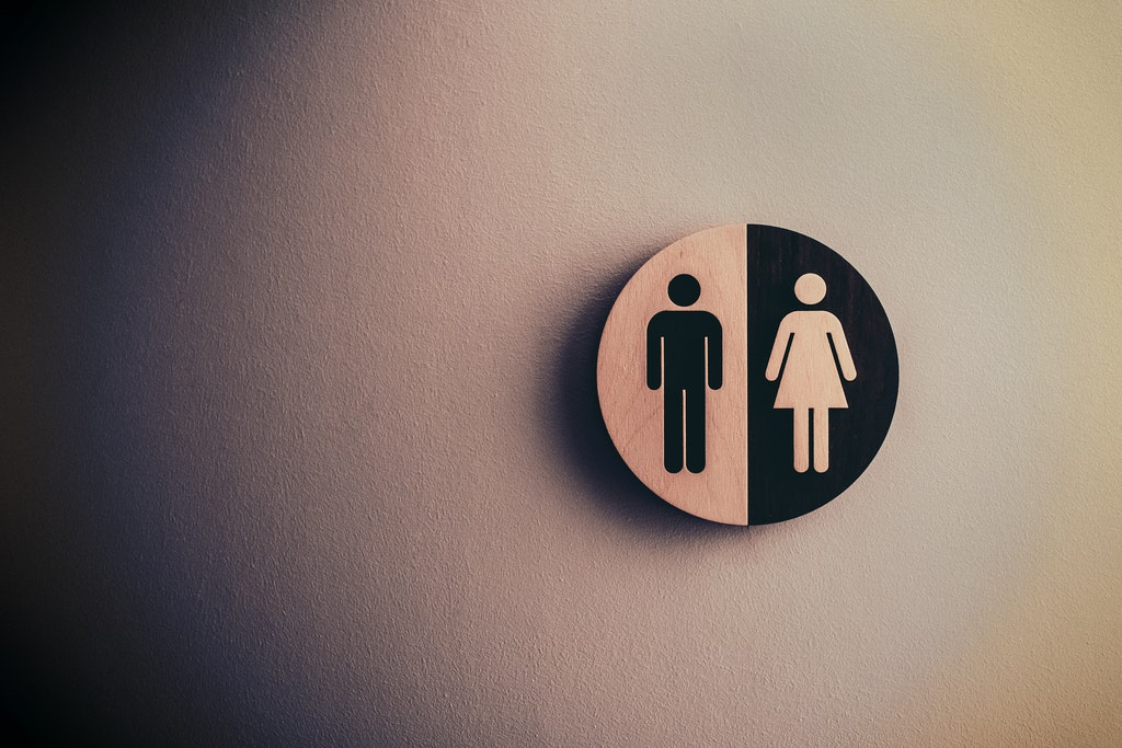 restroom signs for both male and female