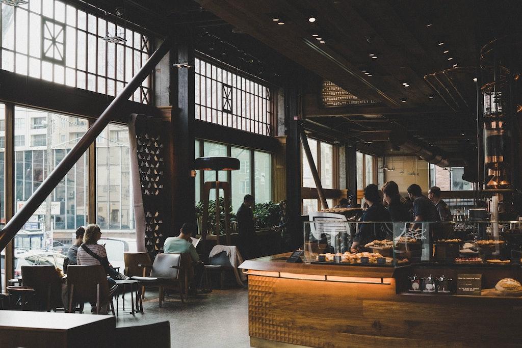 Lobby of a restaurant cafe