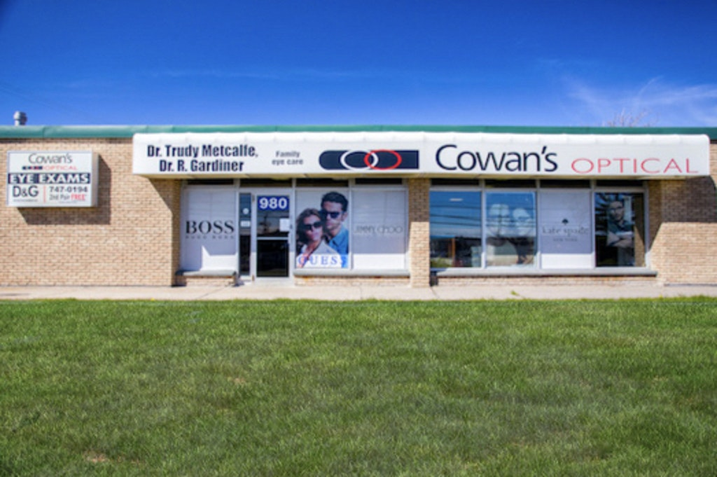 Storefront of Cowan's Optical