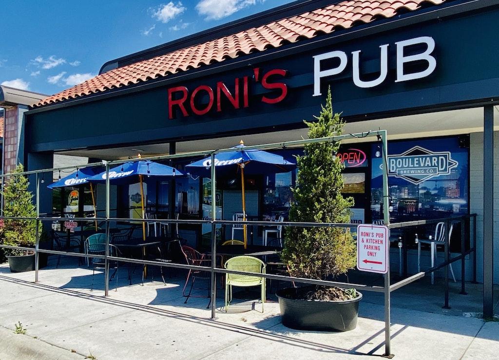 Outside View of Roni's Pub + Kitchen