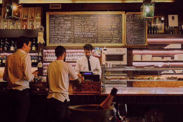 Cashier of a restaurant